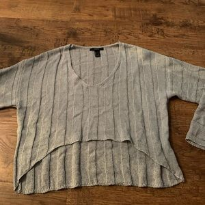Hi low shimmery top new Small
